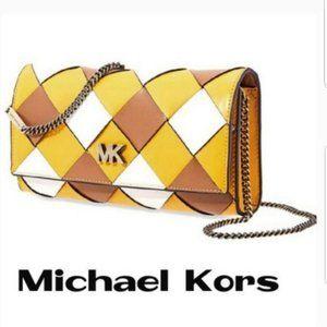 Michael Kors  Mott Large Woven Jasmine Yellow Bag
